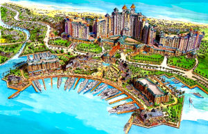 artist rendering of Grand Bahamas resort